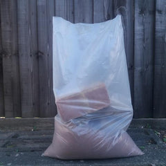Clear Heavy Duty Rubble Sacks 400 Gauge 20 X 30 Inches - Rubble Sacks Sackman
