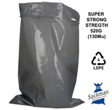 "Super Strength XL Rubble Bags 22"" x 34"" Inches, 520 Gauge"