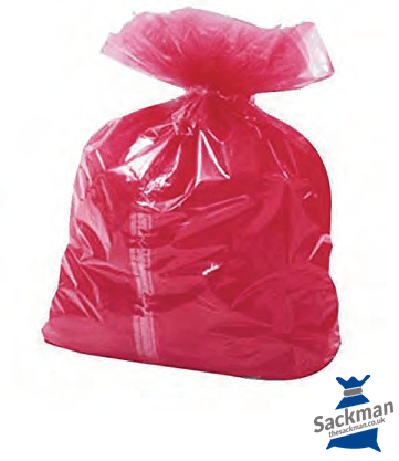 "QTY 200 Medium Red Soluble Strip Sack Size: 18"" x 29"" x 30"" Inches (457 x 711 x 762mm)"