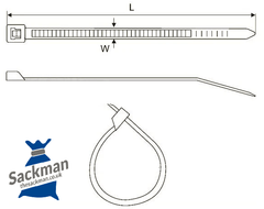 Nylon Cable Ties Sackman