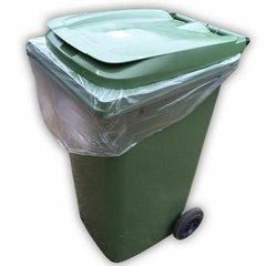 "Black Wheelie Bin Liners 28 x 44 x 62"" Inches 100 per Box Sackman"