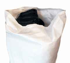 "White Woven Polypropylene Sacks 80 cm x 150 cm (31""x 59"" Inches) - Sackman"