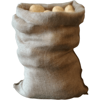 Hessian Sacks Jute, 25kg, 9oz. weight sack 50cm x 80cm