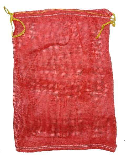 QTY 100 Red Leno Poly Mesh Net Bags 35 x 50cm