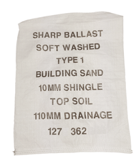 Printed Lettering Woven PP Rubble Sacks MOQ* Sackman