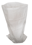 "QTY 100 White Woven Polypropylene Sacks, 80cm x 150cm (31""x 59"" Inches)"
