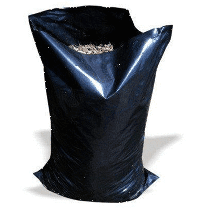 "Large Black Heavy Duty Rubble Bags, 400Gauge, 22"" x 32"""