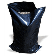 "Large Black Heavy Duty Rubble Bags, 400Gauge, 22"" x 32"" Sackman"