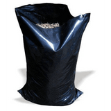 "Black Heavy Duty Rubble Bags, 400Gauge 100Mu, 20 x 30"" Inches"