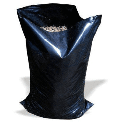 Black Heavy Duty Rubble Bags, 400Gauge 100Mu, 20 x 30""