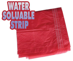 "Large Red Soluble Strip Sack  Size: 18x28x38"" Inches (457 x 711 x 965 mm) Box Qty 200 Sackman"