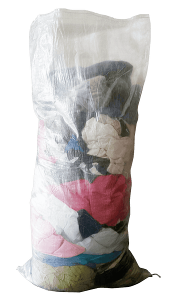 "QTY 100 Clear Laundry Washing Bags, Extra Large Size: 71 cm x 142 cm (Inches 29"" x 56"") suitable for 30 kg+ of Textiles"