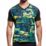 Black Camo V-Neck T-Shirt