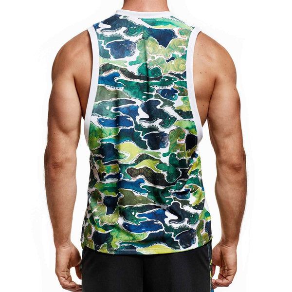 White Camo Back Tank (Masterclass Apparel)