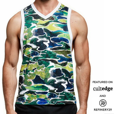 Masterclass Apparel White Camo Front Tank, featured on CultEdge and Refinery29