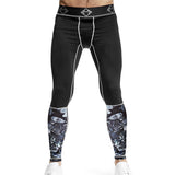 Gray Camo Compression Tights