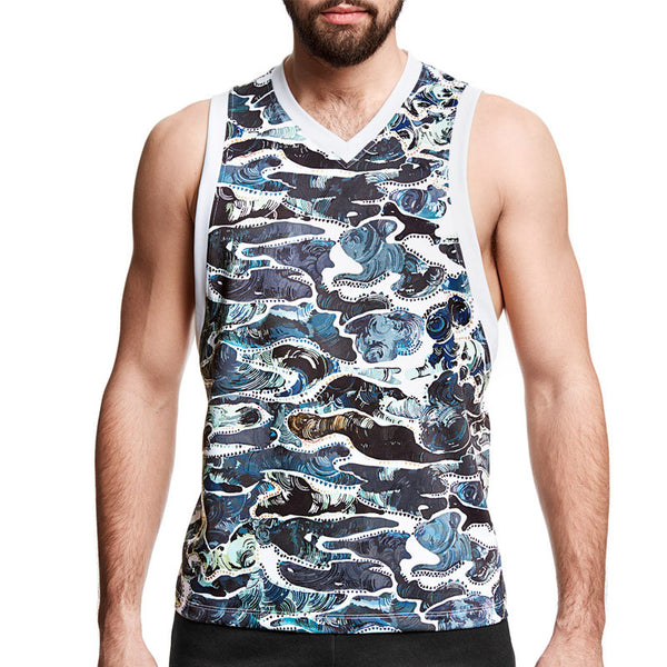 Silver Camouflage Tank