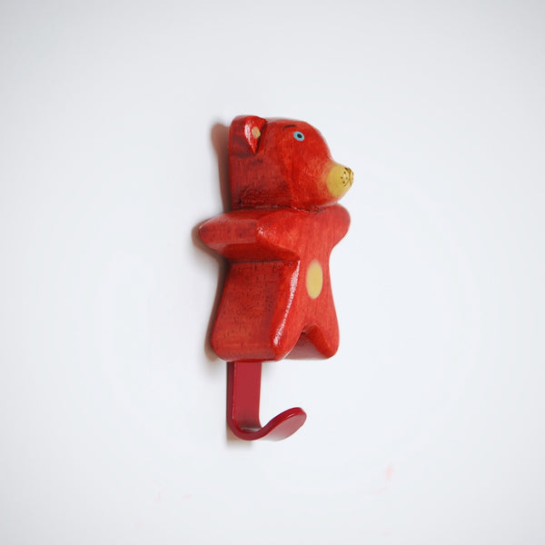 Animals United Mini Wooden Wall Hook Bear