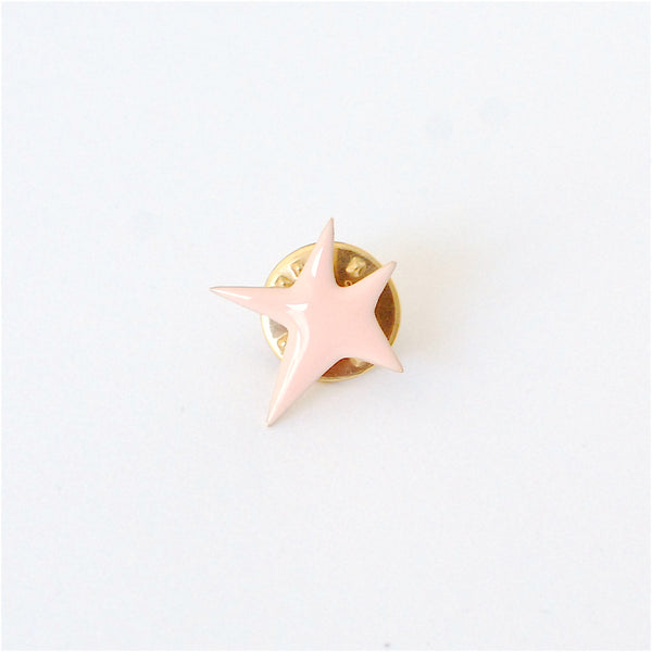 Titlee Brass Pin Pink Star