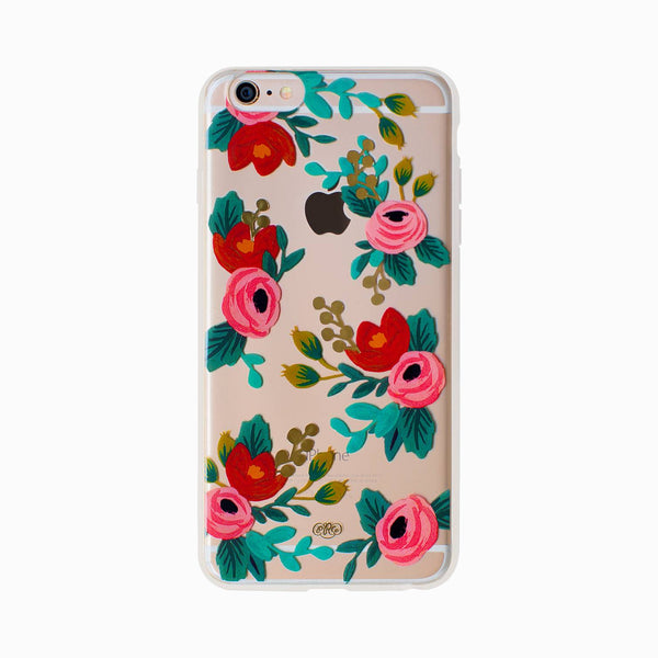 Rifle Paper co. iPhone 6/6s Case Clear Rosa