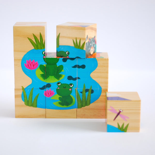 Vilac Wooden Blocks Animals