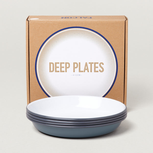 Falcon Enamel Deep Plate Set