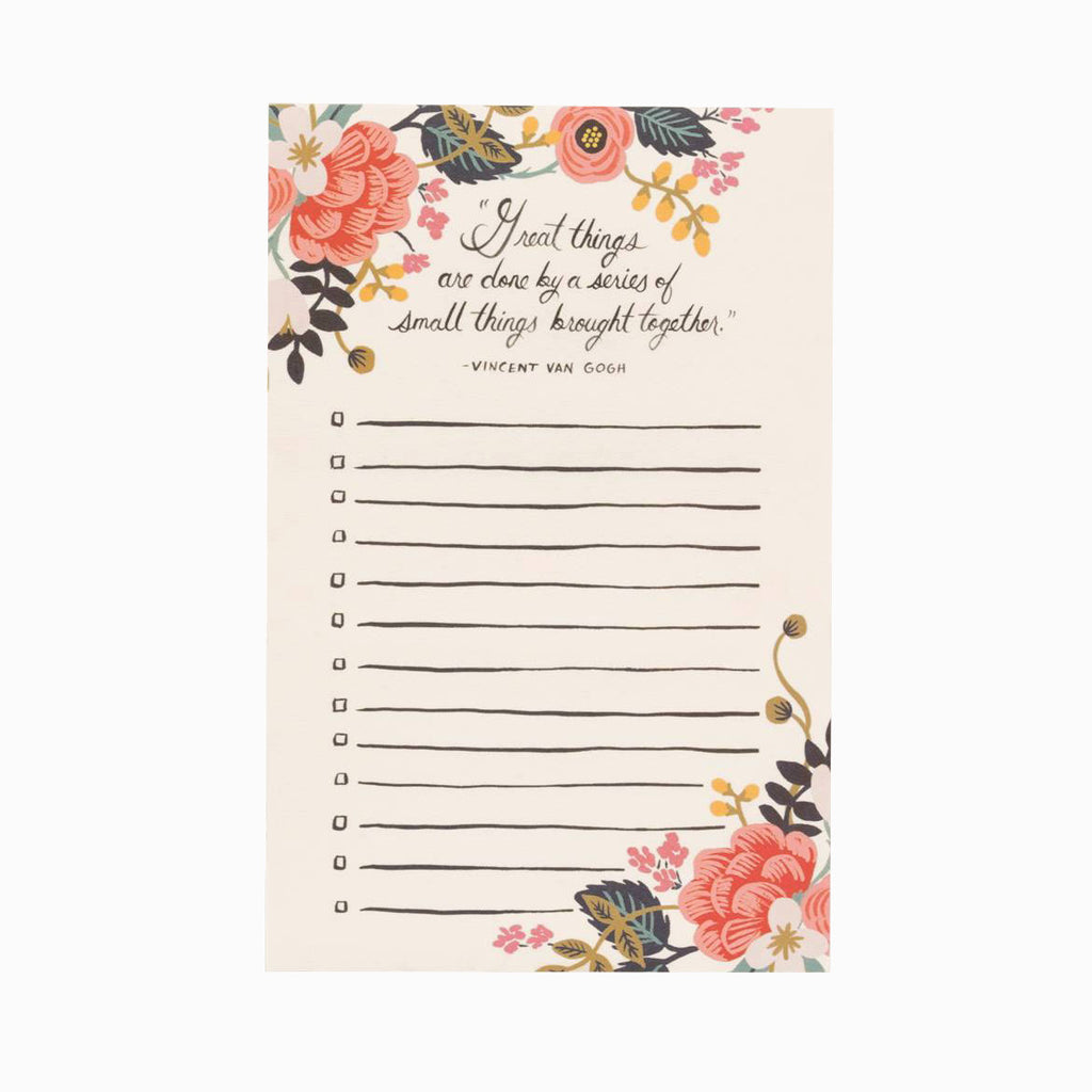 Rifle Paper Co. Notepad Great Things