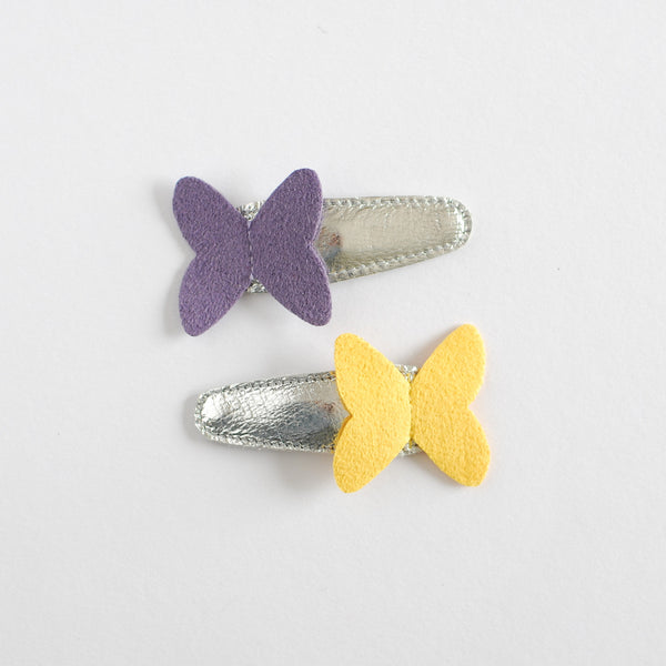 Hello Shiso Butterfly Lavender/Yellow Hair Clips