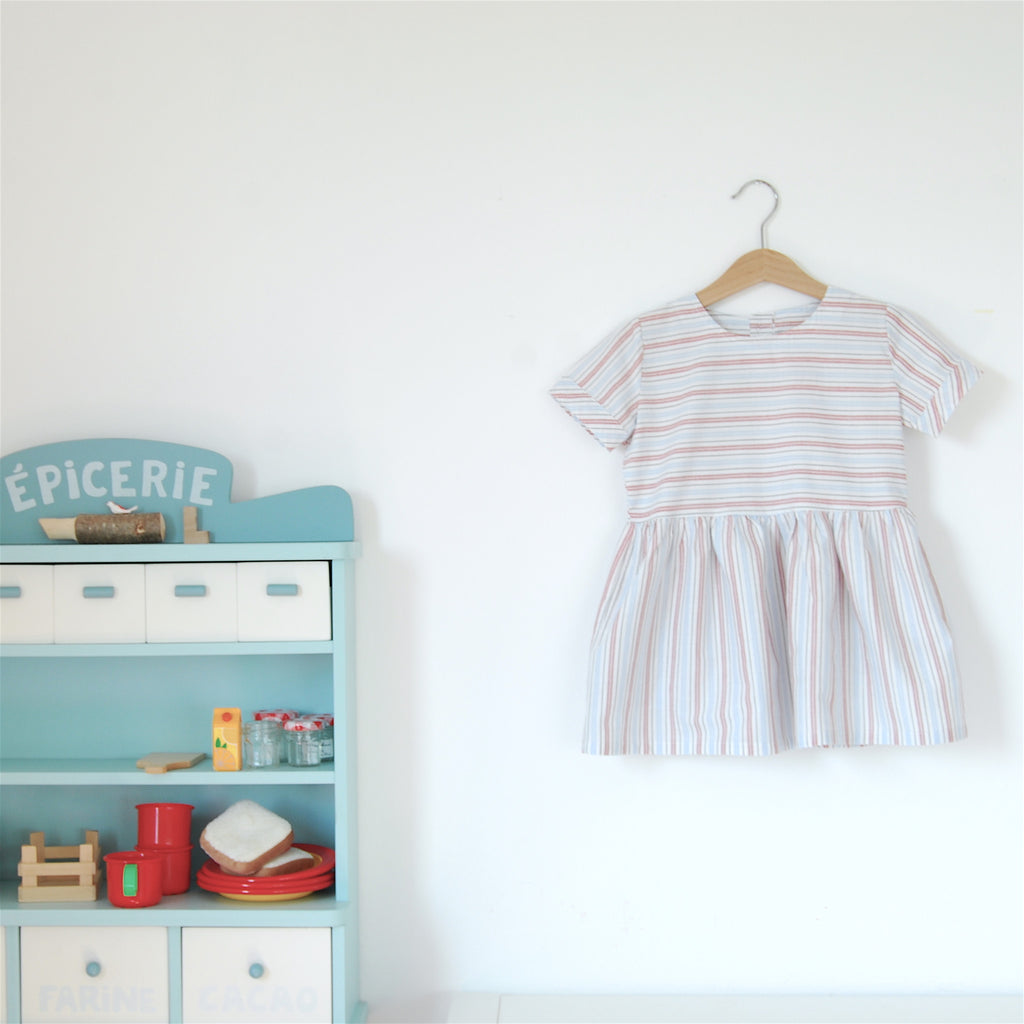 Tootsa MacGinty Chocolatine Striped Smock Dress