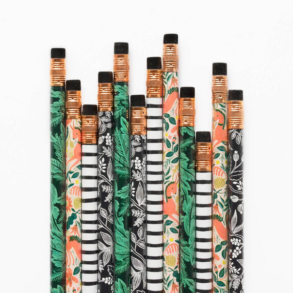 Rifle Paper Co. Set of 12 Pencils Folk
