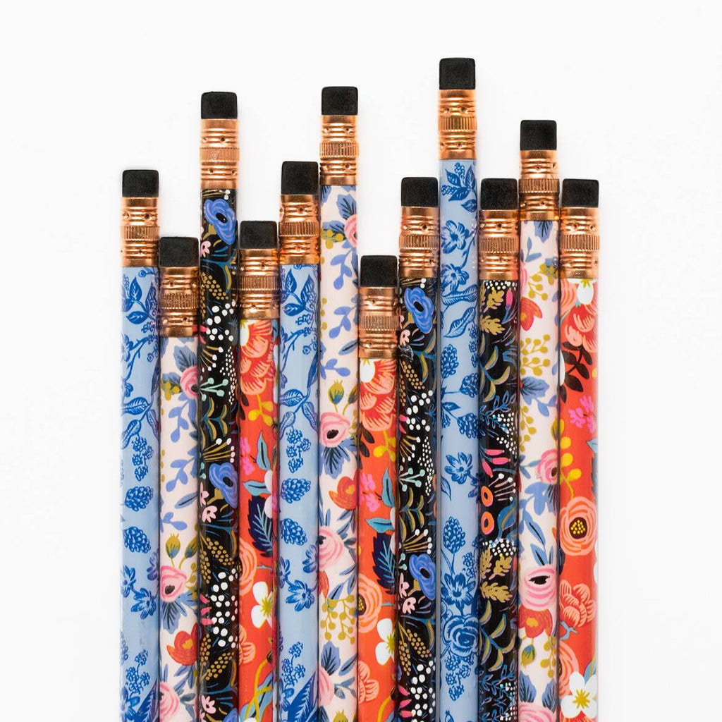 Rifle Paper Co. Set of 12 Pencils Floral