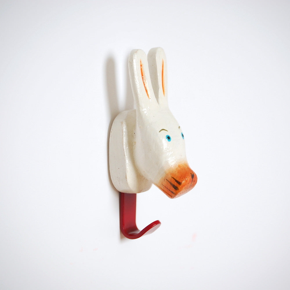 Animals United Mini Wooden Wall Hook Woodies Bunny
