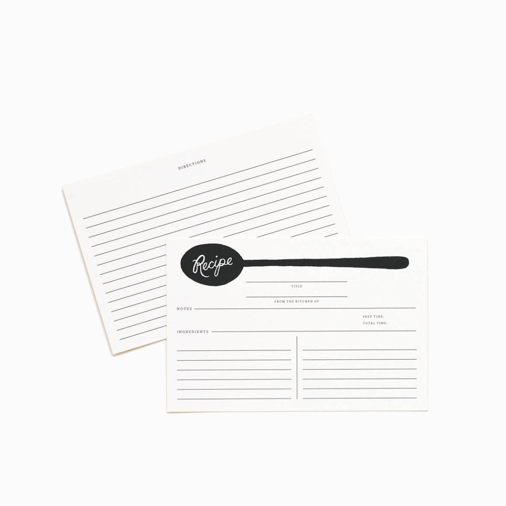 Rifle Paper Co. Recipe Cards/Refill Charcoal Spoon