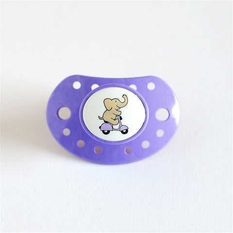 Esska Pacifier Purple Elephant