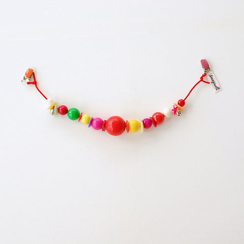 Wooden Pram Chain - Red