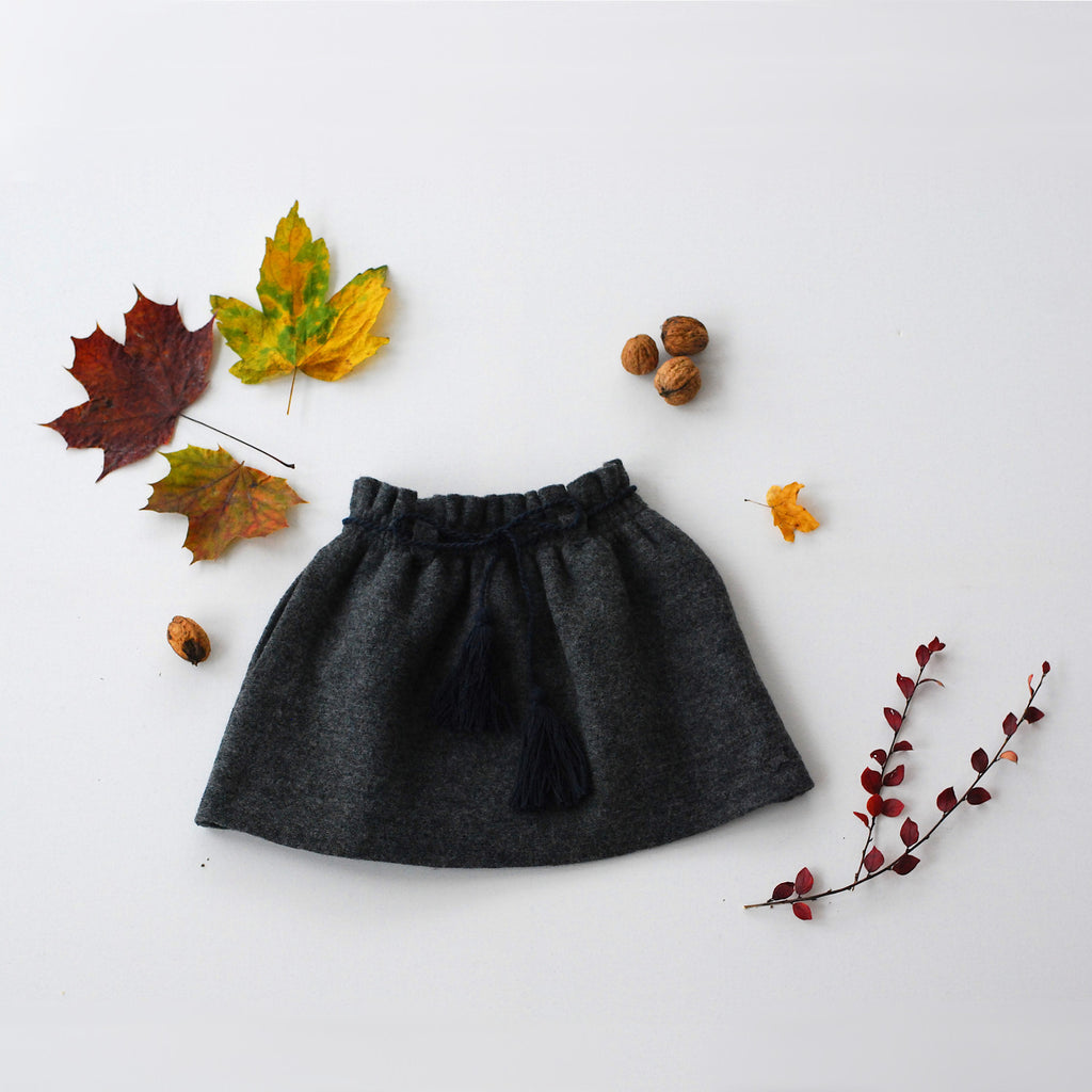 Felt Skirt with Tassle