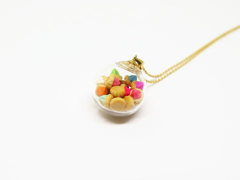 Singapore Miniature Food - Ice Gems Necklace by Miniature Asian Chef