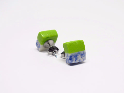 Miniature Kueh Salat Ear Studs by Miniature Asian Chef