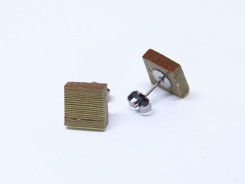 Miniature Asian Chef Kueh Lapis Ear Studs