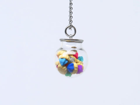 Miniature Asian Chef Ice Gem in a Globe Necklace Festive Edition