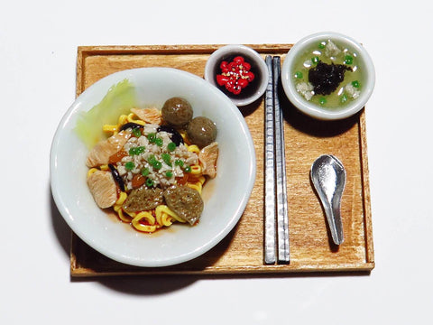 Miniature Singapore Food - Bak Chor Mee by Miniature Asian Chef