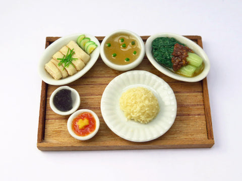 Miniature Singapore Food - Hainanese Chicken Rice Set by Miniature Asian Chef