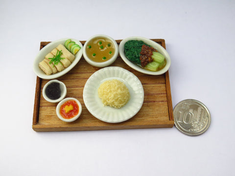 Singapore Miniature Food - Hainanese Chicken Rice by Miniature Asian Chef