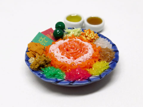 Miniature Singapore Food - Yu Sheng
