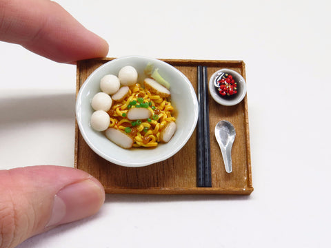 Singapore Miniature Food - Fishball Noodles