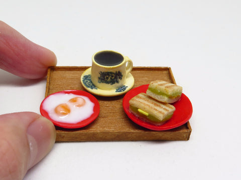 Miniature Singapore Food - Kaya Toast Set by Miniature Asian Chef