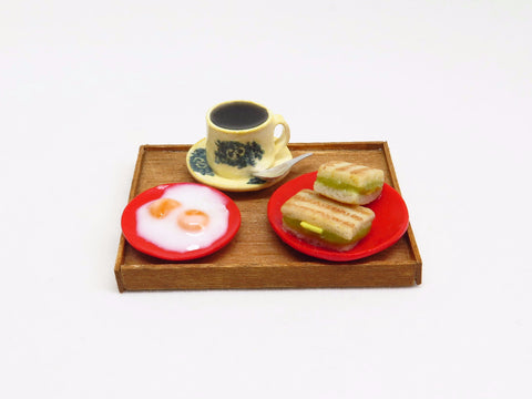 Miniature Singapore Food - Kaya Toast Set