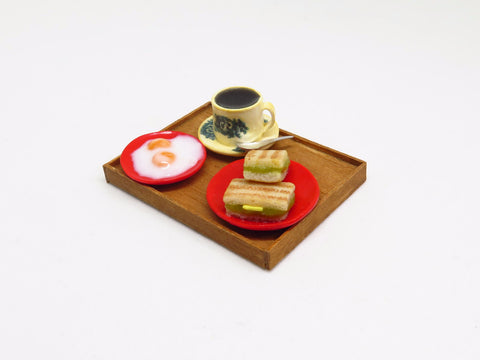 Miniature Food Singapore - Kaya Toast Set by Miniature Asian Chef