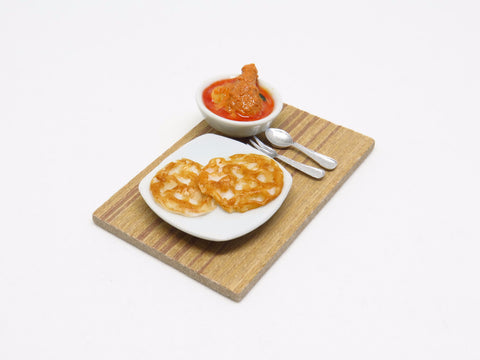 Miniature Roti Prata with Chicken Curry Set