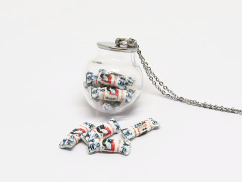 White Rabbit Candy Globe Necklace